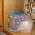 store used bags under your sink