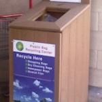 plastic bag donation bin